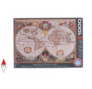 , , , PUZZLE OGGETTI EUROGRAPHICS ORBIS GEOGRAPHICA WORLD MAP 1000 PZ