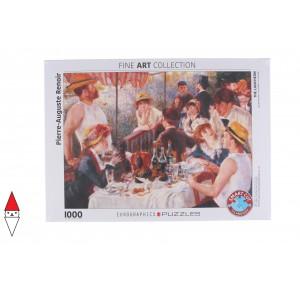 , , , PUZZLE ARTE EUROGRAPHICS IMPRESSIONISMO THE LUNCHEON RENOIR 1000 PZ