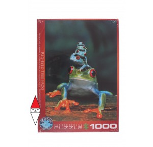 EUROGRAPHICS, , , PUZZLE ANIMALI EUROGRAPHICS RANE RED-EYED TREE FROG 1000 PZ