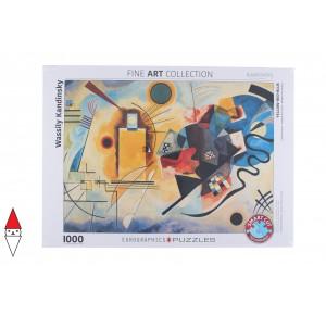 EUROGRAPHICS, , , PUZZLE ARTE EUROGRAPHICS PITTURA 1900 YELLOW RED BLUE KANDINSKY 1000 PZ