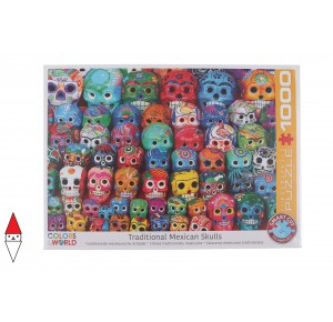 EUROGRAPHICS, , , PUZZLE OGGETTI EUROGRAPHICS TRADITIONAL MEXICAN SKULLS 1000 PZ