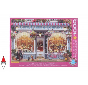 EUROGRAPHICS, , , PUZZLE TEMATICO EUROGRAPHICS NEGOZI CUPS CAKES AND COMPANY 1000 PZ