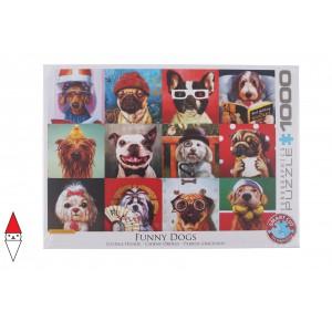 , , , PUZZLE ANIMALI EUROGRAPHICS CANI FUNNY DOGS BY LUCIA HEFFERNAN 1000 PZ