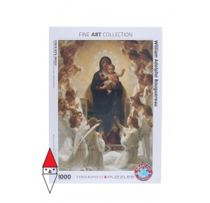 , , , PUZZLE ARTE EUROGRAPHICS PITTURA 1800 VIRGIN WITH ANGELS 1000 PZ