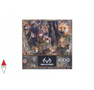 , , , PUZZLE ANIMALI MASTERPIECES ANIMALI VARI FOREST GATHERING 1000 PZ