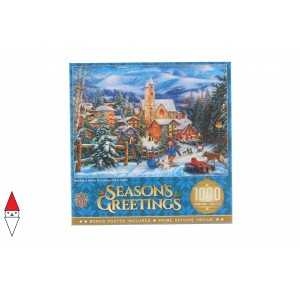 , , , PUZZLE TEMATICO MASTERPIECES NATALE SLEDDING TO HOME 1000 PZ