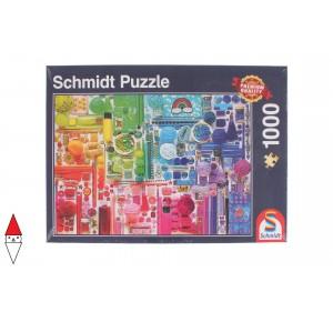 , , , PUZZLE TEMATICO SCHMIDT COLORI COLORS OF THE RAINBOW 1000 PZ