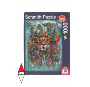 , , , PUZZLE ANIMALI SCHMIDT ANIMALI VARI KING OF THE JUNGLE 1000 PZ
