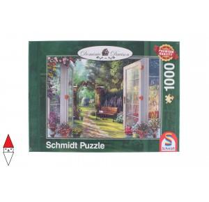 , , , PUZZLE PAESAGGI SCHMIDT DAVISON VIEW OF THE ENCHANTED GARDEN 1000 PZ