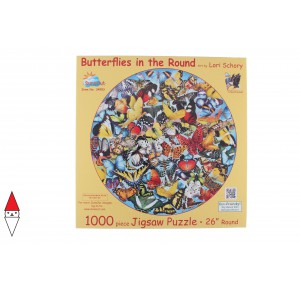 , , , PUZZLE ANIMALI SUNSOUT FARFALLE BUTTERFLIES IN THE ROUND LORI SCHORY 1000 PZ