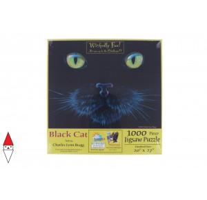, , , PUZZLE ANIMALI SUNSOUT GATTI CHARLES LYNN BRAGG BLACK CAT 1000 PZ