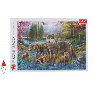 , , , PUZZLE ANIMALI TREFL LUPI LUPINE FAMILY 1000 PZ