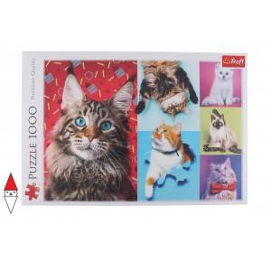 , , , PUZZLE ANIMALI TREFL GATTI HAPPY CATS 1000 PZ