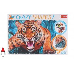 , , , PUZZLE ANIMALI TREFL TIGRI CRAZY SHAPES FACING A TIGER 600 PZ