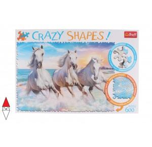 , , , PUZZLE ANIMALI TREFL CAVALLI CRAZY SHAPES GALLOPING AMONG THE WAVES 600 PZ