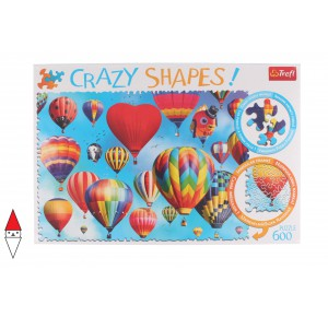 , , , PUZZLE PAESAGGI TREFL MONGOLFIERE CRAZY SHAPES COLOURFUL BALLOONS 600 PZ