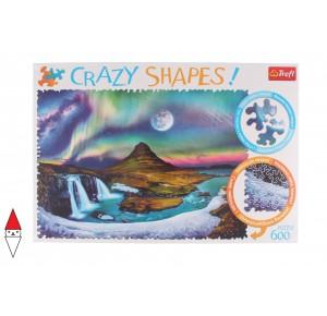 , , , PUZZLE PAESAGGI TREFL AURORA BOREALE CRAZY SHAPES AURORA OVER ICELAND 600 PZ