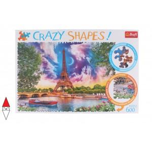 , , , PUZZLE PAESAGGI TREFL CITTA CRAZY SHAPES SKY OVER PARIS 600 PZ