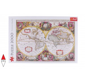 , , , PUZZLE OGGETTI TREFL A NEW LAND AND WATER MAP OF THE ENTIRE EARTH 1630 2000 PZ