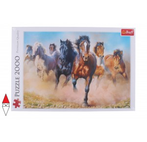 , , , PUZZLE ANIMALI TREFL CAVALLI GALLOPING HERD OF HORSES 2000 PZ