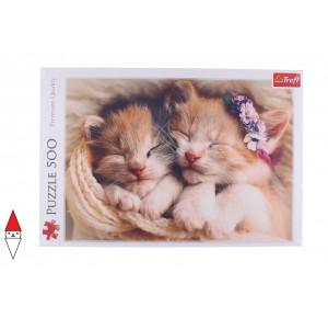 , , , PUZZLE ANIMALI TREFL GATTI SLEEPING KITTENS 500 PZ