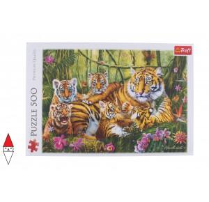 , , , PUZZLE ANIMALI TREFL TIGRI FAMILY OF TIGERS 500 PZ