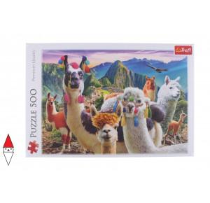, , , PUZZLE ANIMALI TREFL LAMA LAMAS IN THE MOUNTAINS 500 PZ