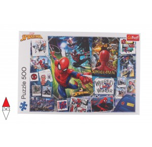 , , , PUZZLE GRAFICA TREFL FUMETTI POSTERS WITH A SUPERHERO / SPIDERMAN 500 PZ