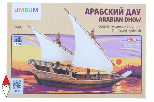 UMBUM, 407, 4627081554206, PUZZLE 3D UMBUM NAVI ANTICHE ARABIAN DHOW ARABO 407