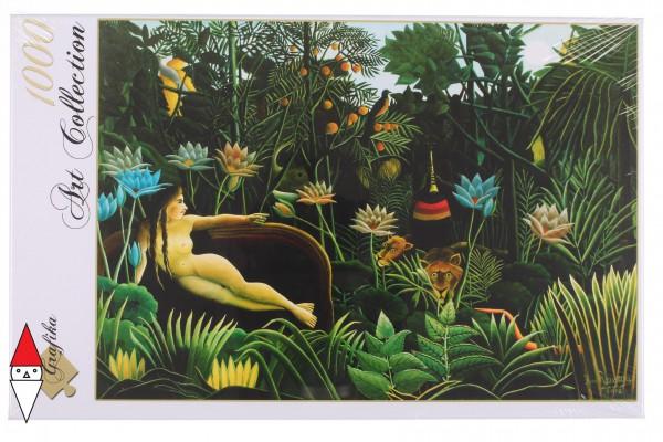 GRAFIKA, Grafika-00501, 3663384005015, PUZZLE ARTE GRAFIKA HENRI ROUSSEAU LE REVE 1910 PITTURA 1800 1000 PZ