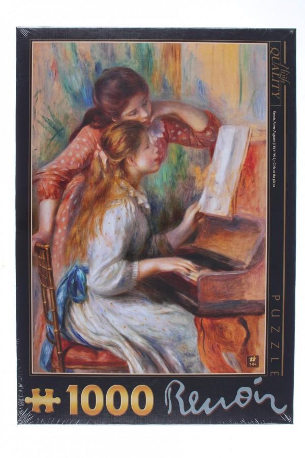 DTOYS, DToys-66909-xxRE09, 5947502874584, PUZZLE ARTE DTOYS RENOIR AUGUSTE JEUNES FILLES AU PIANO IMPRESSIONISMO 1000 PZ