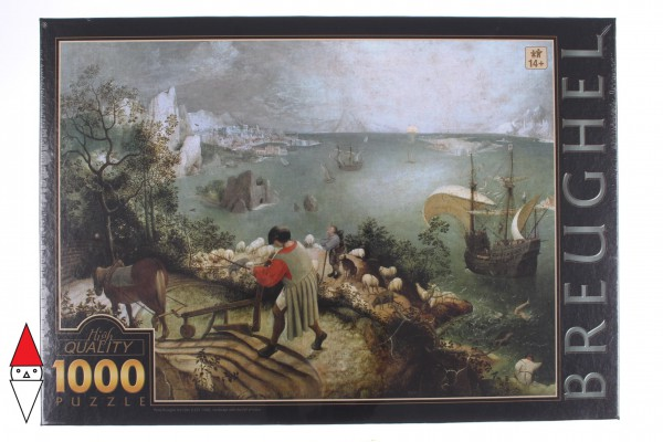 DTOYS, Dtoys-73778-BR03, 5947502875826, PUZZLE ARTE DTOYS BRUEGHEL LANDSCAPE WITH THE FALL OF ICARUS PITTURA FIAMMINGA