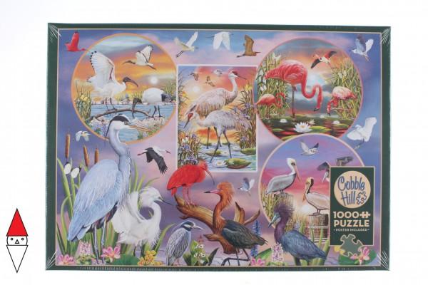 COBBLE HILL, Cobble-Hill-80219, 625012802192, PUZZLE ANIMALI COBBLE HILL / OUTSET MEDIA WATERBIRD MAGIC UCCELLI 1000 PZ