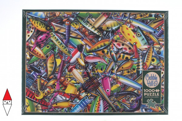 COBBLE HILL, Cobble-Hill-80233, 625012802338, PUZZLE OGGETTI COBBLE HILL / OUTSET MEDIA ALLURING ESCHE PESCA 1000 PZ