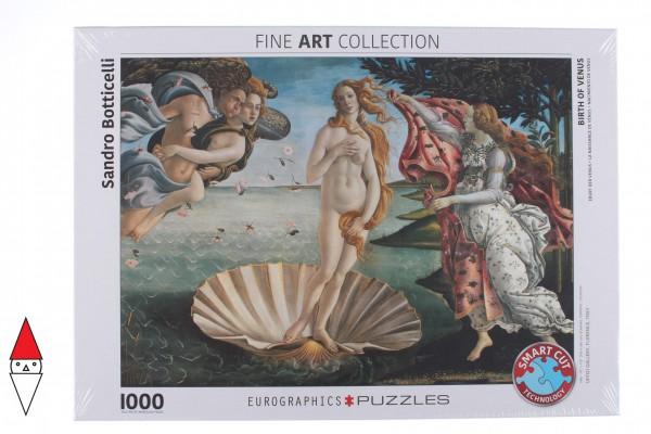 EUROGRAPHICS, Eurographics-6000-5001, 628136650014, PUZZLE ARTE EUROGRAPHICS BOTTICELLI NASCITA DI VENERE RINASCIMENTO 1000 PZ