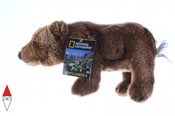 NATIONAL GEOGRAPHIC, 770740, 8004332707400, PELUCHE NATIONAL GEOGRAPHIC ORSI ORSO GRIZZLY 32 CM