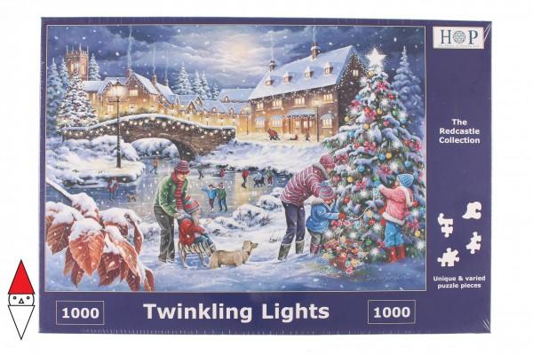 THE HOUSE OF PUZZLES, The-House-of-Puzzles-5071, 5060002005071, PUZZLE TEMATICO THE HOUSE OF PUZZLES NATALE TWINKLING LIGHTS 1000 PZ