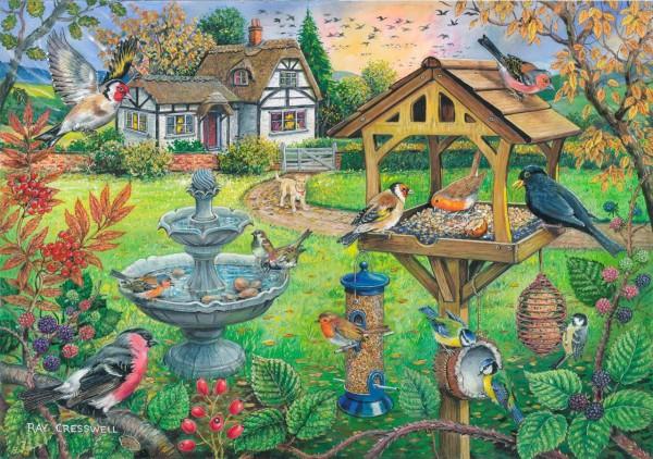 THE HOUSE OF PUZZLES, The-House-of-Puzzles-4333, 5060002004333, PUZZLE ANIMALI THE HOUSE OF PUZZLES UCCELLI PEZZI XXL BIRD TABLE 500PZ