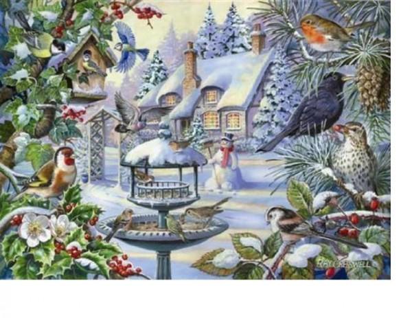 THE HOUSE OF PUZZLES, The-House-of-Puzzles-2247, 5060002002247, PUZZLE ANIMALI THE HOUSE OF PUZZLES UCCELLI PEZZI XXL WINTER BIRDS 500PZ