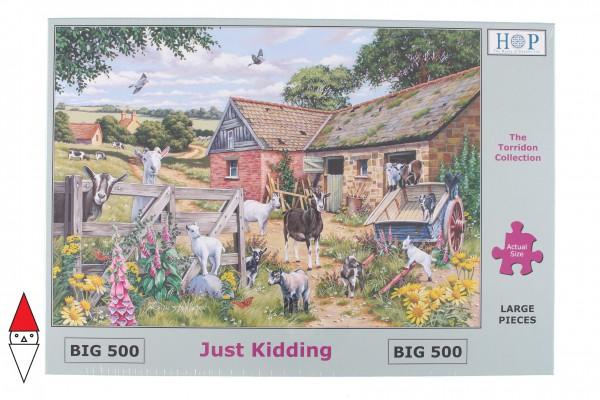 THE HOUSE OF PUZZLES, The-House-of-Puzzles-4906, 5060002004906, PUZZLE ANIMALI THE HOUSE OF PUZZLES CAPRE PEZZI XXL JUST KIDDING 500PZ