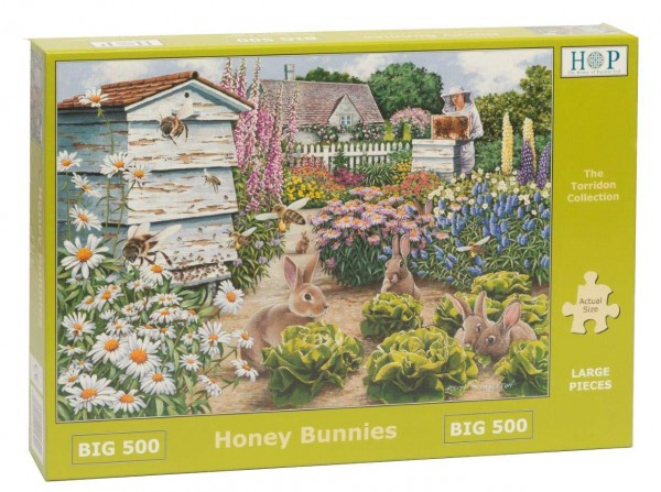 THE HOUSE OF PUZZLES, The-House-of-Puzzles-4890, 5060002004890, PUZZLE ANIMALI THE HOUSE OF PUZZLES CONIGLI PEZZI XXL HONEY BUNNIES 500PZ