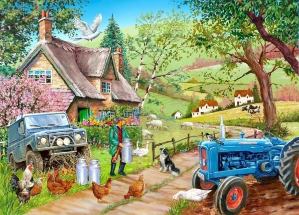 THE HOUSE OF PUZZLES, The-House-of-Puzzles-3732, 5060002003732, PUZZLE PAESAGGI THE HOUSE OF PUZZLES CAMPAGNA FARM FRESH FATTORIA 500 PZ