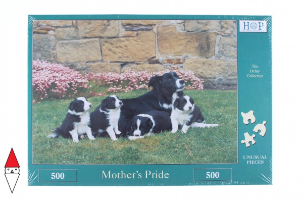 THE HOUSE OF PUZZLES, The-House-of-Puzzles-2698, 5060002002698, PUZZLE ANIMALI THE HOUSE OF PUZZLES CANI MOTHERS PRIDE 500 PZ