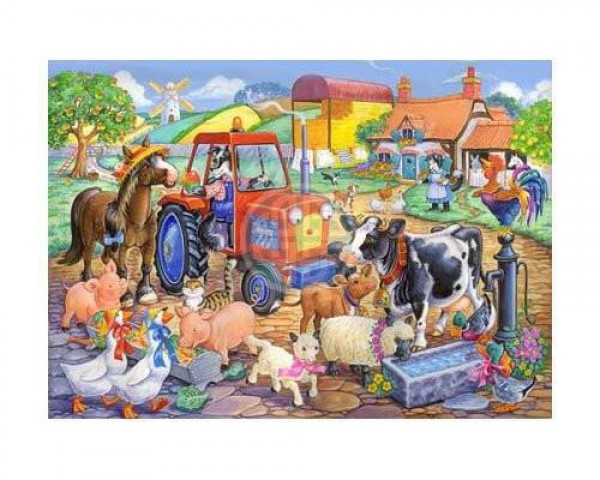 THE HOUSE OF PUZZLES, The-House-of-Puzzles-1806, 5060002001806, PUZZLE ANIMALI THE HOUSE OF PUZZLES CAMPAGNA PEZZI XXL FARM FRIENDS