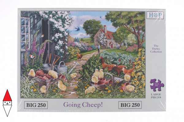 THE HOUSE OF PUZZLES, The-House-of-Puzzles-4777, 5060002004777, PUZZLE ANIMALI THE HOUSE OF PUZZLES PULCINI PEZZI XXL GOING CHEEP 250 PZ