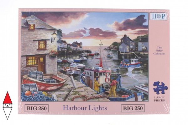 THE HOUSE OF PUZZLES, The-House-of-Puzzles-3428, 5060002003428, PUZZLE PAESAGGI THE HOUSE OF PUZZLES PORTI PEZZI XXL HARBOUR LIGHTS 250PZ