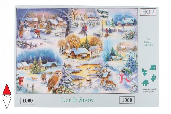 THE HOUSE OF PUZZLES, The-House-of-Puzzles-1745, 5060002001745, PUZZLE TEMATICO THE HOUSE OF PUZZLES STAGIONI INVERNO LET IT SNOW 1000 PZ