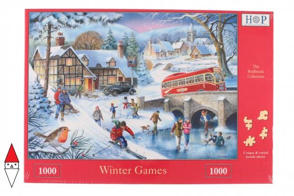 THE HOUSE OF PUZZLES, The-House-of-Puzzles-1578, 5060002001578, PUZZLE TEMATICO THE HOUSE OF PUZZLES STAGIONI INVERNO WINTER GAMES 1000 PZ