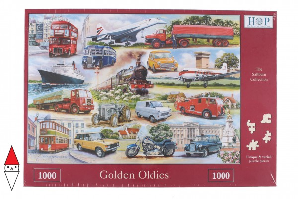 THE HOUSE OF PUZZLES, The-House-of-Puzzles-2292, 5060002002292, PUZZLE MEZZI DI TRASPORTO THE HOUSE OF PUZZLES GOLDEN OLDIES 1000 PZ