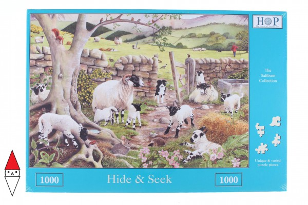 THE HOUSE OF PUZZLES, The-House-of-Puzzles-2308, 5060002002308, PUZZLE ANIMALI THE HOUSE OF PUZZLES CAPRE HIDE AND SEEK 1000 PZ